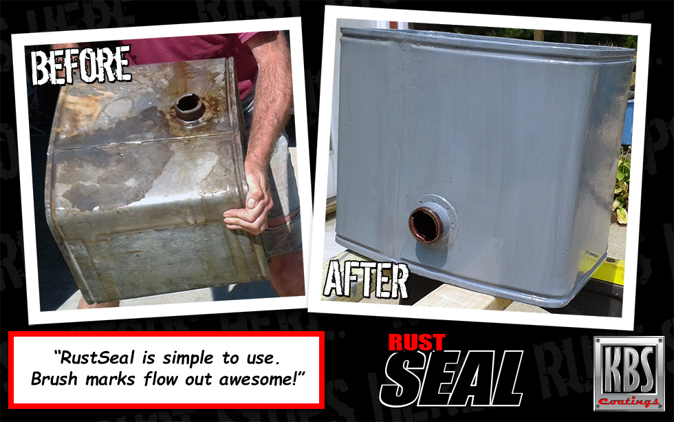 RustSeal - Before and After Gas Tank
