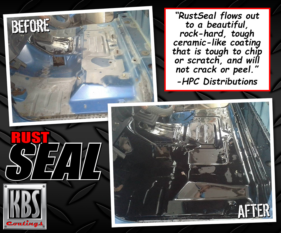 Before and After - RustSeal - Floorpans